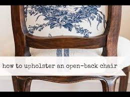 how to upholster the back of an open frame chair miss mustard