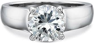 precision set rings precision set solitaire wide shank diamond engagement ring 7801