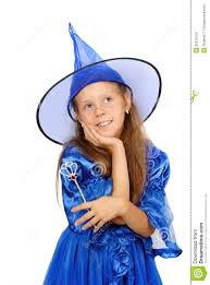 blue witch costume little in witch costume stock photography image 20919752