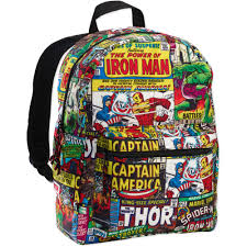 Marvel Super Heroes Clothing Marvel Comic 16 U0027 U0027 Backpack Walmart Com