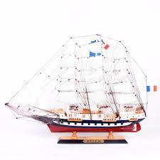 65cm world sailing boat model gift antique wood yacht