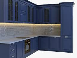 classical kitchen set 3d model cgtrader