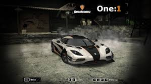 koenigsegg one 1 top speed need for speed most wanted cars by koenigsegg nfscars
