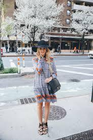 Clothes Like Johnny Was Boho Street Style Inspiration Printed Mini Dress Black