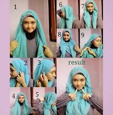 tutorial jilbab segi 4 untuk kebaya hijab tutorial segi empat simple kesan cantik dari dalam