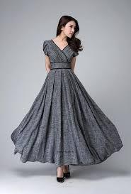 women s dress dress maxi dress empire waist dress linen clothing women