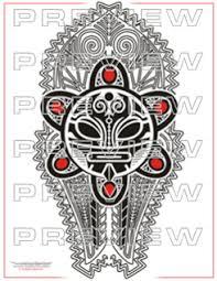 awesome taino tribal sun design mesoamerican