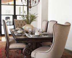 Upholstered Chairs Dining Room Upholstered Dining Chairs With Nailheads Sets Home Decor And