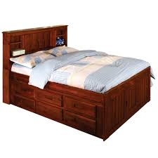 Rustic Wooden Bed Frame Portable Twin Bed Frame Water Bed Box Pedestal Riser Wooden Bed