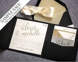 and black wedding invitations wedding invitations event stationery by juliehanandesign on etsy