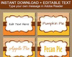 thanksgiving buffet cards editable printable thanksgiving