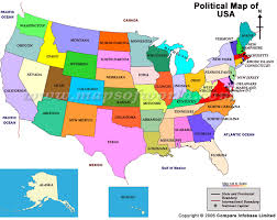 political us map political map usa
