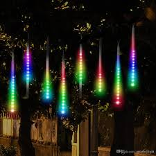 best deal on led icicle lights led meteor shower rain lights drop icicle snow falling raindrop 30cm