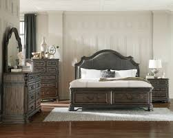 Pc Carlsbad II Collection Rustic Style Dark Brown Wood Finish - 7 piece king bedroom furniture sets