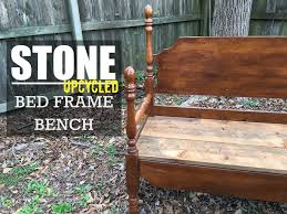 Bed Frame Build A Bench From An Old Bed Frame Wood Version Youtube