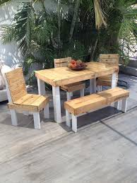 Outdoor Furniture Made From Wood Pallets Outdoor Furniture Set Out Of Wood Pallet Pallet Ideas Recycled