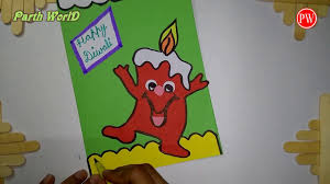 diwali greeting card diy very very easy for kids youtube