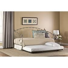 Lowes Bedroom Furniture by Bedroom Wrought Iron Daybeds With Trundles With White Bedding And