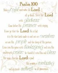 psalm 100 one of the greatest thanksgiving chapters in the bible