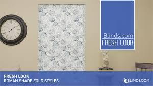 roman shade fold styles fresh look u0026raquo roman shades blinds