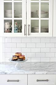 simple art subway tile backsplash installation white subway tile