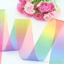 sheer organza ribbon 38mm 100 yards rainbow sheer organza ribbon diy handmade fabric