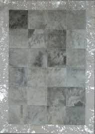 Modern Tibetan Rugs by Light Grey Border Acid Silver Natural Cowhide Rug From The Cowhide