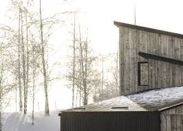 moxon embeds scottish quarry house into woodland