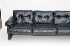 canapé b b italia canapé coronado noir en cuir par tobia scarpa pour b b italia 1970s