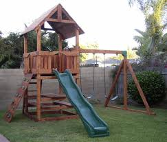 Wood Backyard Playsets by R 2 Refurbished Redwood Playset With Picnic Table Diy