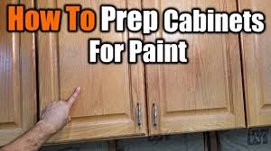 how to prep cabinets for painting how to prepare cabinets for paint the handyman