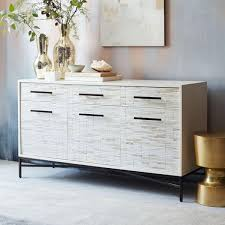 wood tiled sideboard west elm uk