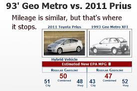 2007 toyota prius gas mileage 2011 prius vs 1993 geo metro tundra headquarters