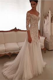 sheath wedding dress v neck lace wedding dresses 2018 3 4 sleeves tulle sheath