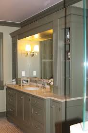Large Mirrors For Bathroom Vanity - good looking green bathroom vanity with tall cabinet wall sconce