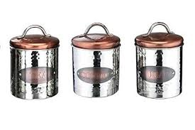 kitchen storage canisters vintage copper tea coffee sugar jars kitchen storage canisters set
