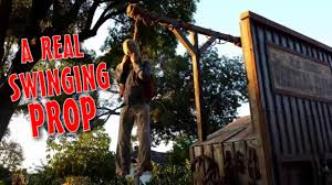 Halloween Decorations Cakes Make A Pneumatic Thrasher Hangman Gallows Prop Diy Halloween