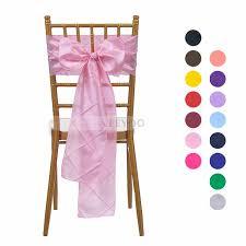 wedding bans veeyoo 5pcs 14x275 cm pintuck chair sash ribbon bows bans