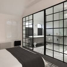 industrial design bedroom bedroom industrial with crittall door
