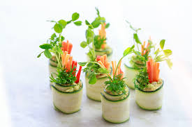 easy vegetarian canapes vegan canapés zucchini roll ups move nourish believe