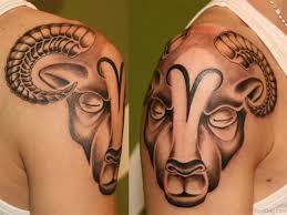52 zodiac aries tattoos on shoulder