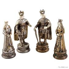 rare sterling silver chess set manhattan art and antiques center