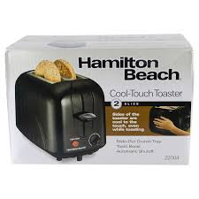 Toaster Glass Sides Hamilton Beach 2 Slice Cool Touch Toaster Black Meijer Com