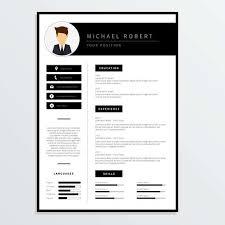 corporate resume template corporate resume template vector free vector stock