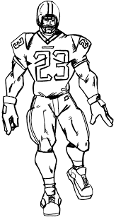 drawing of a football player free download clip art free clip