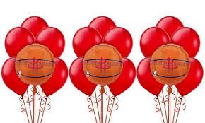 balloon bouquet houston houston rockets balloon bouquet 5pc basketball party city canada
