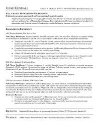 Relevant Experience Resume Examples by Download Bookkeeping Resume Haadyaooverbayresort Com