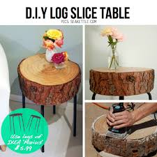 tables made from logs 10 stylish diy side table ideas tutorials