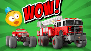 monster trucks videos for kids fire brigade u0027s monster trucks cartoon for kids about monster