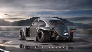 file 1972 yellow vw beetle volkswagen beetle gets porsche 917k aero elements in cars for